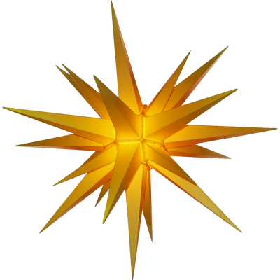 Yellow Durable Plastic Lighted Moravian Star