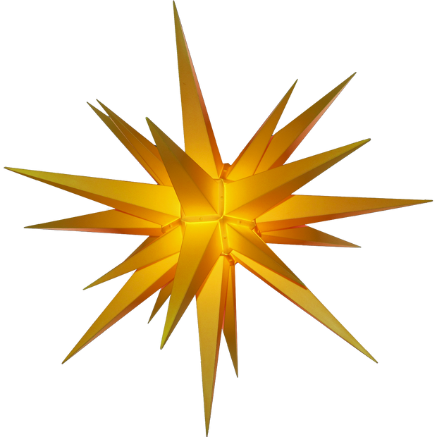 3D Moravian Lighted Star Yellow