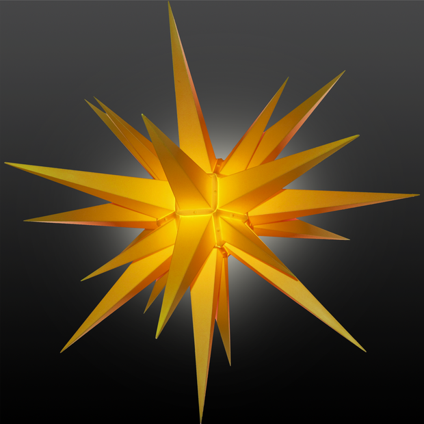 3D Illuminated Star Light Yellow