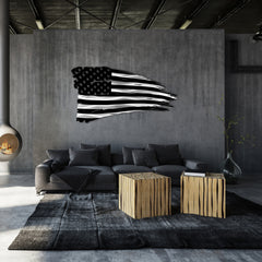 Distressed American Battle Flag