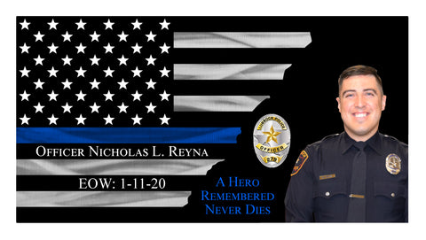 Officer Nicholas L. Reyna of The Lubbock Police Department Memorial Thin Blue Line