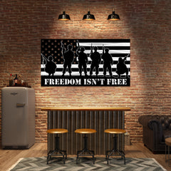 Freedom Isn't Free American Soldier Flag