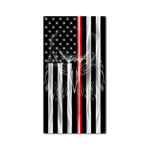 Ghost Eagle Vertical American Flag
