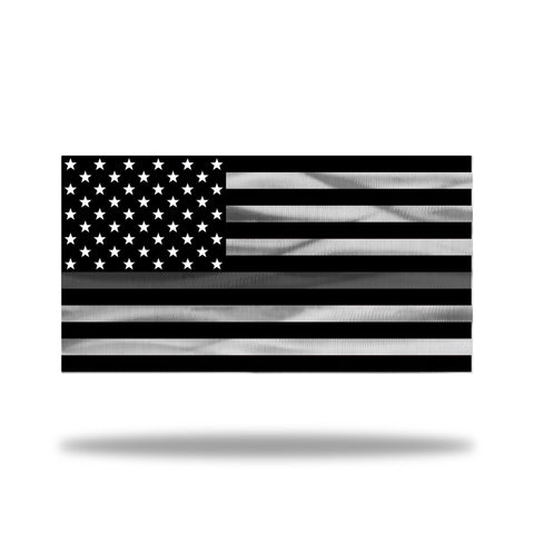 Personalized Metal American Flag