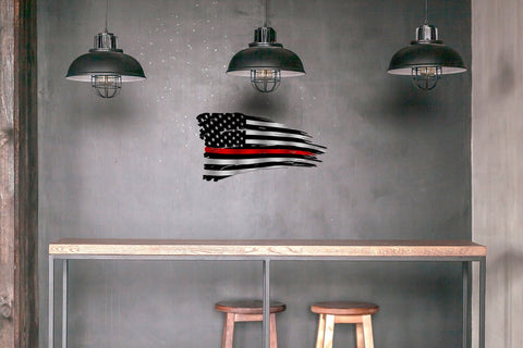 Distressed Thin Line American Battle Flag