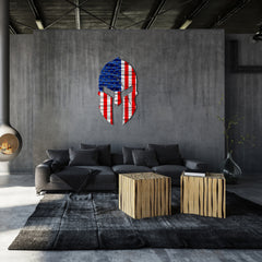 Spartan Helmet Flag - Metal Wall Art