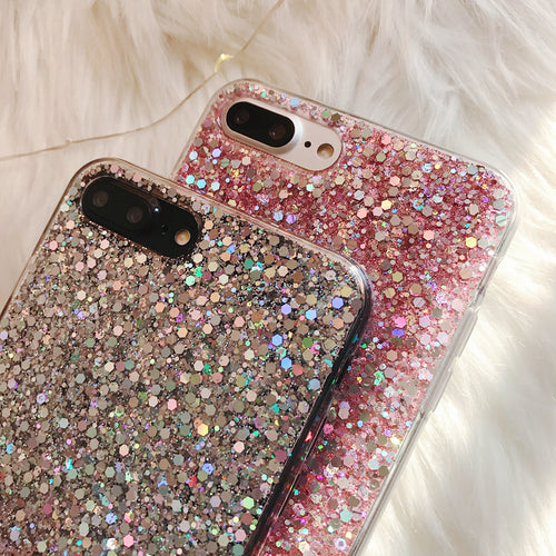 Pretty Glitter iPhone Case - Pink or Silver
