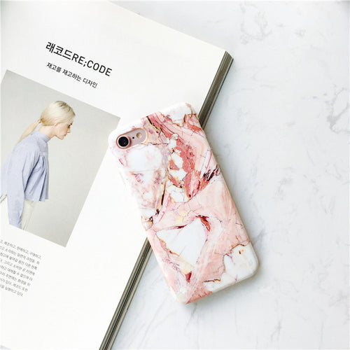 Pink Marble Look iPhone Case