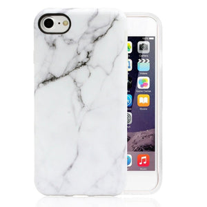 White Marble Look iPhone Case