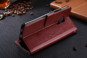 Luxury Leather Look Case For Huawei - Red