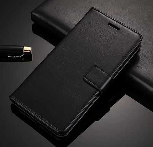 Leather Look Case For Samsung - Black