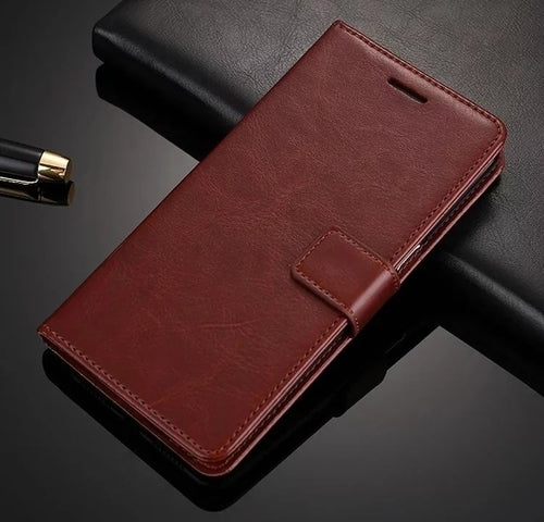 Leather Look Case For Samsung - Brown