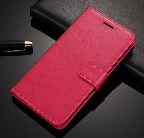 Leather Look Case For Samsung - Red
