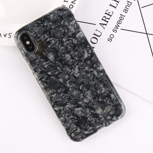 Glossy Shell Iphone Case - Black