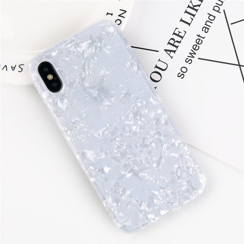 Glossy Shell Iphone Case - White