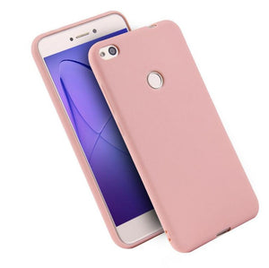Matte Silicone Soft Case for Huawei - Pink