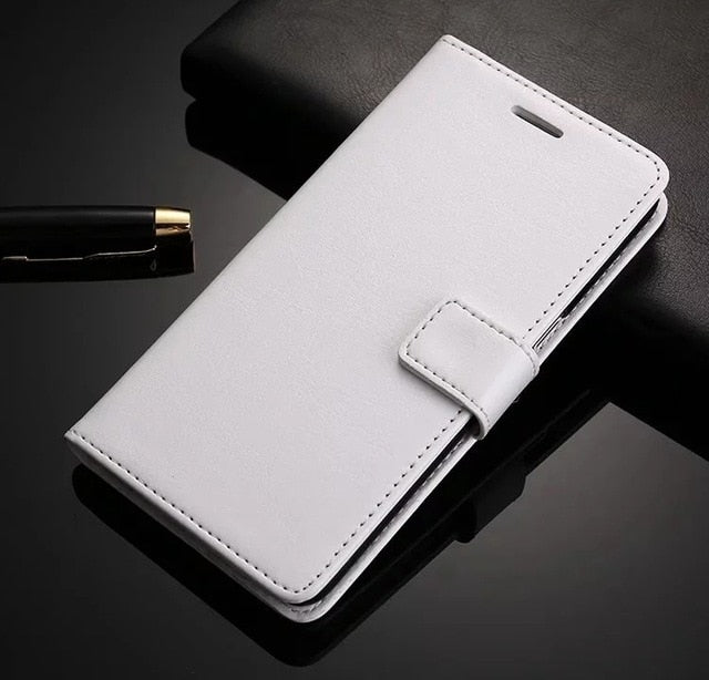 Leather Look iPhone Wallet - White