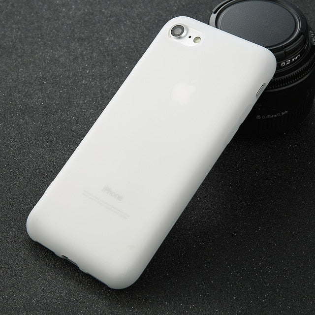 Matte White Soft iPhone Case