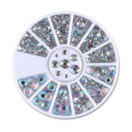 Nail 3D Art Mixed Colour Chameleon Stones Silver Scrapes