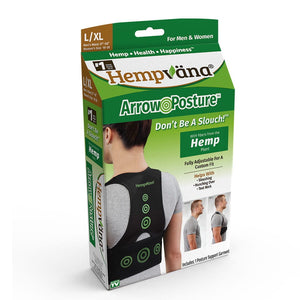 The packaging for Hempvana Arrow Posture which is green and white