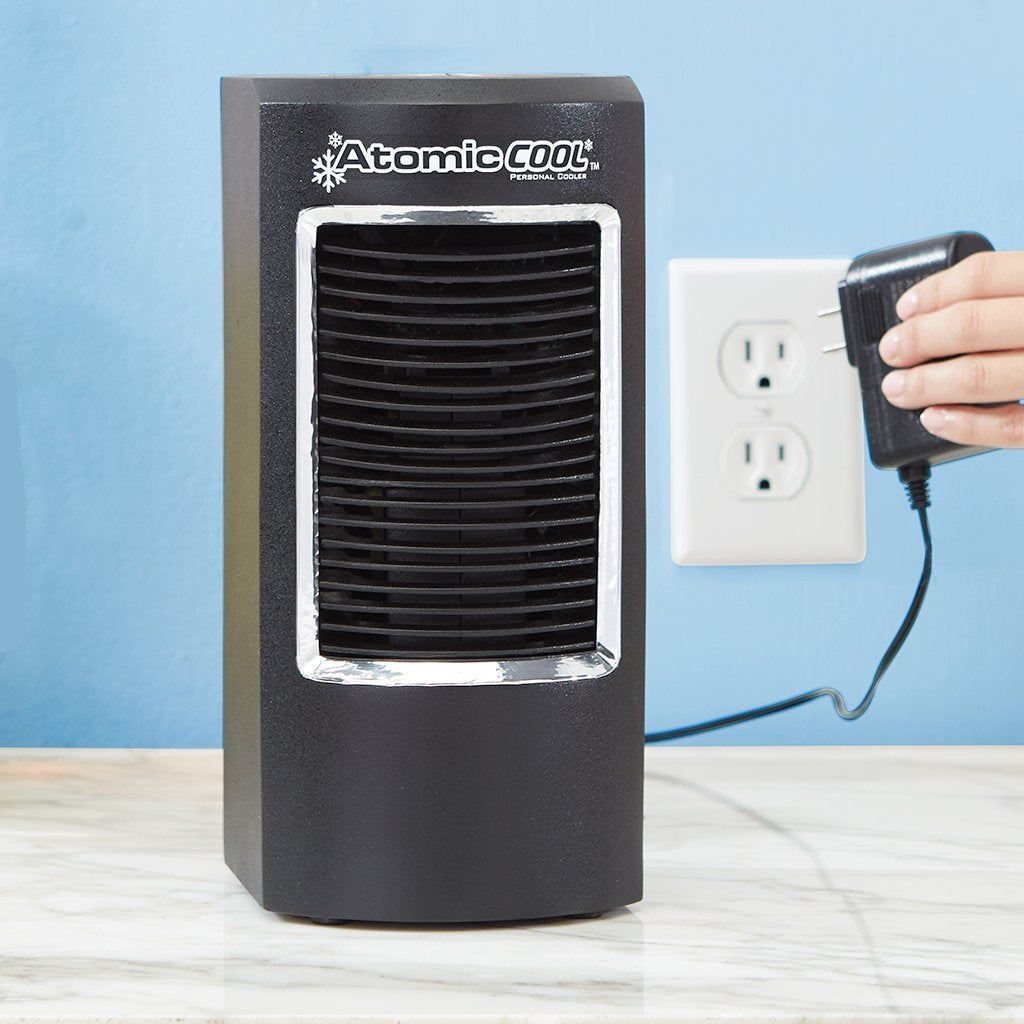 Atomic Cool Portable Personal Cooling System product image being plugged in