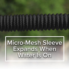 Load image into Gallery viewer, Pocket Hose Brass Bullet showing close up of mirco-mesh sleeve