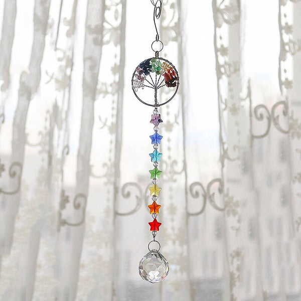 Tree of Life Crystal Prism Ball Sun Catcher