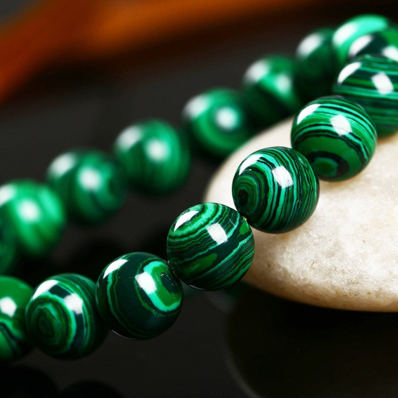 High Quality Fashion Green Malachite Men Bracelet