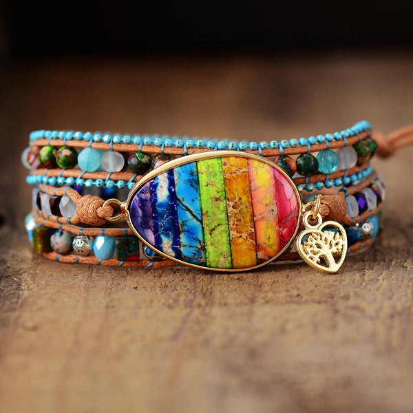 Multilayers Women Leather Wrap Bracelets