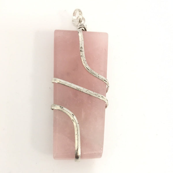 Crystal Pendant - Rose Quartz