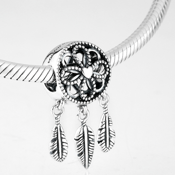Dream Catcher Bracelet - Feathers and Flowers