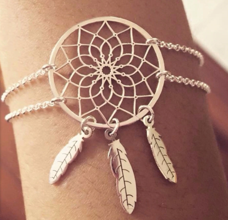DREAM CATCHER BRACELET - HOLLOW FLOWER LEAF