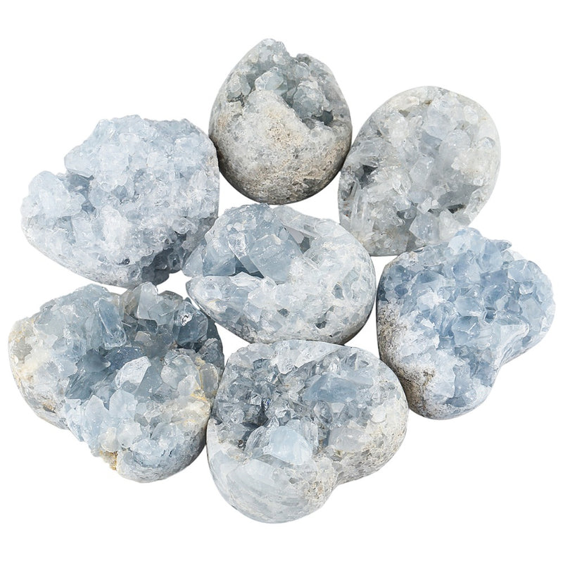 1Pc Natural Blue Celestite Mineral Healing Crystal Cluster
