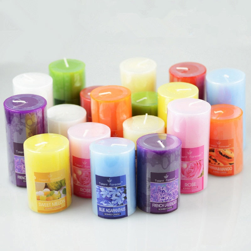 Cylindrical Aromatherapy Smokeless Candle Romantic Scented candles