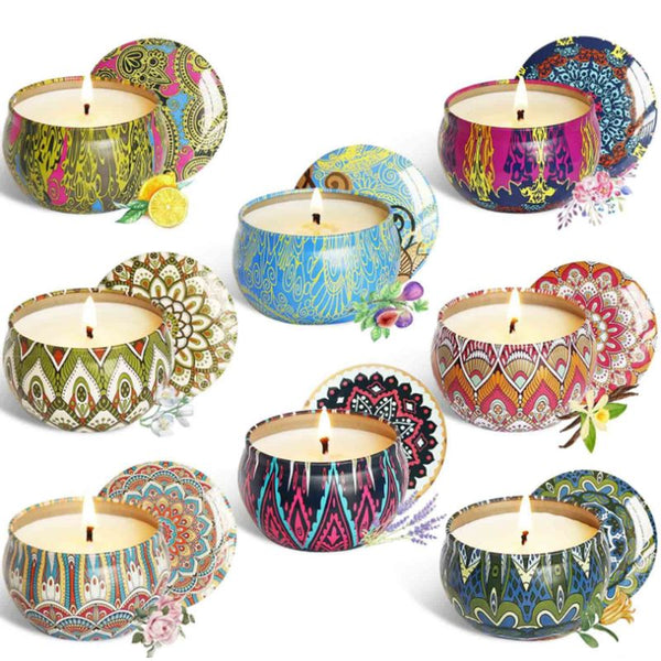 8pcs Fragrance Aromatherapy Scented Candle