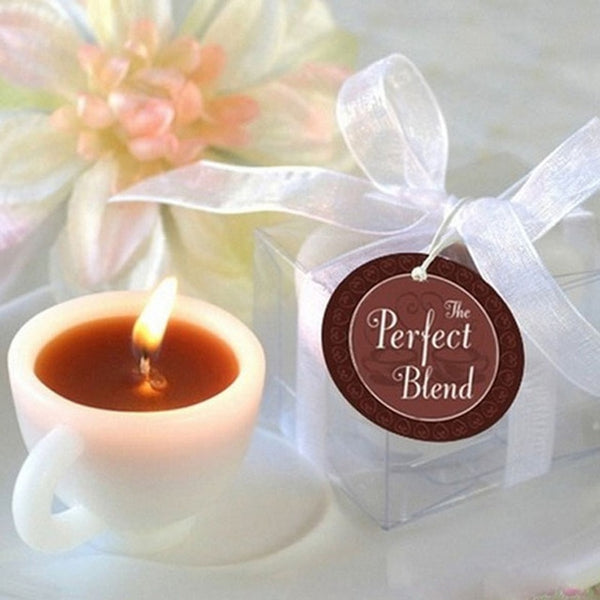1pcs New Romantic Coffee Cup Shape Candles for Wedding Party