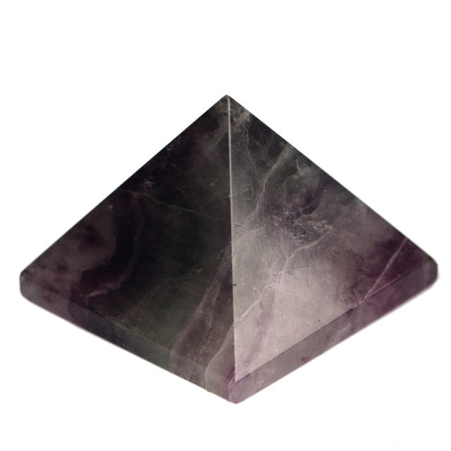 Assorted 40mm Pyramid Black Obsidian Fluorite pink quartz Natural Stone