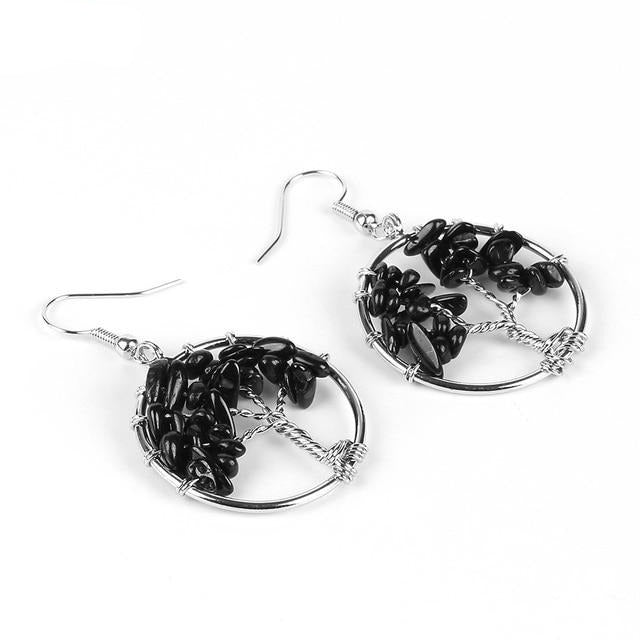 TREE OF LIFE WOMEN DROP EARRINGS