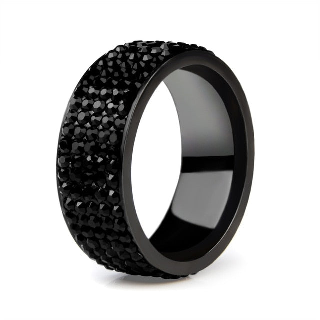 Black Ring- Stainless Steel