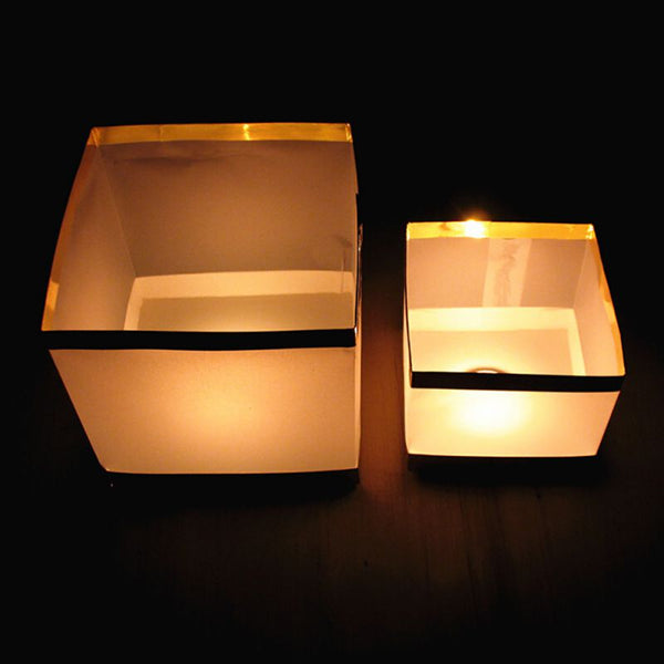 Square Lantern Paper Lanterns Wishing floating Candle
