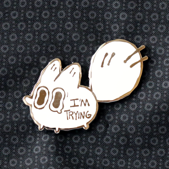 I'm Trying - Anxiety Fox Enamel Pin