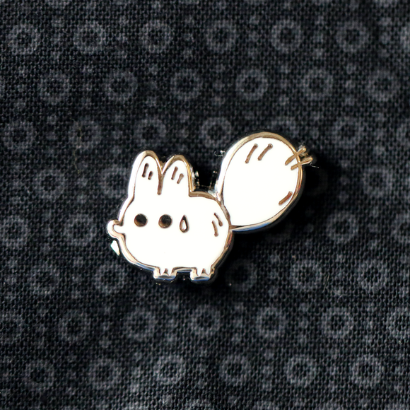 Mini Anxiety Fox Enamel Pin