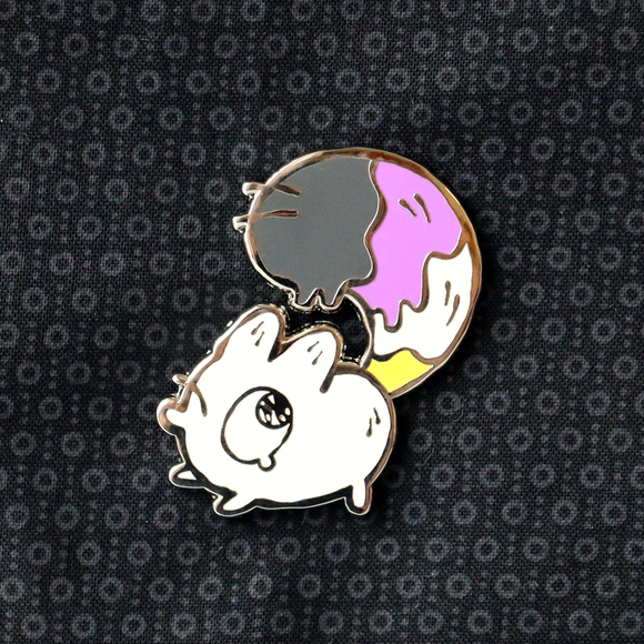 Nonbinary - Anxiety Fox Enamel Pin