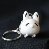Anxiety Fox PVC Keychain