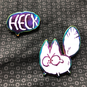 Heck - Anxiety Fox Double Pin Set