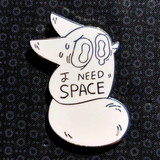 I Need Space Anxiety Fox Pin