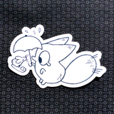 Anxiety Fox Vinyl Stickers