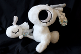 Small Fluffy Support Bunny Plush