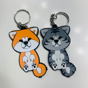 Japanese Akita Rubber PVC Keychains