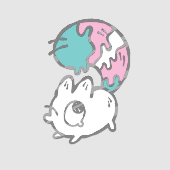 Trans - Anxiety Fox Enamel Pin
